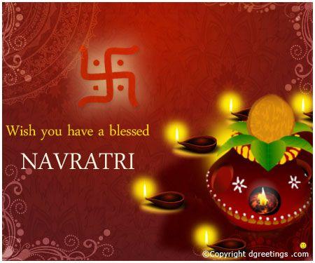 Happy Navratri  Wishes Card