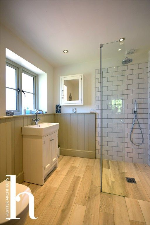 Family Bathroom in extended home by RIBA Architects