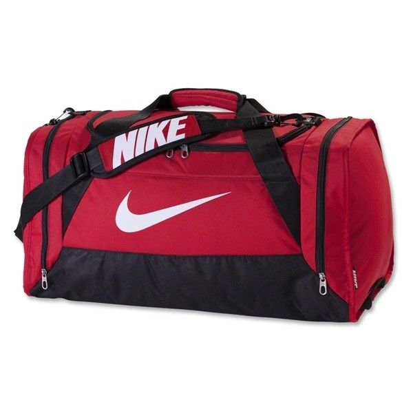 Nike Brasilia 6 Large Duffle Bag Red 64 Cad Liked On Polyvore Featuring Bags And Luggage bags Pinterest
