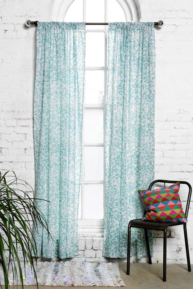 Grayson silver gray jacquard fabric cloth bathroom bath shower curtain - Plum Bow Daydreamer Curtain
