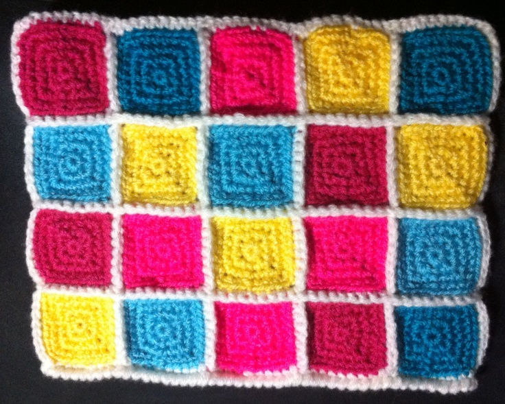 This one is my study of crochet granny squares. I ended doing an iPad purse:) very kitsch:)