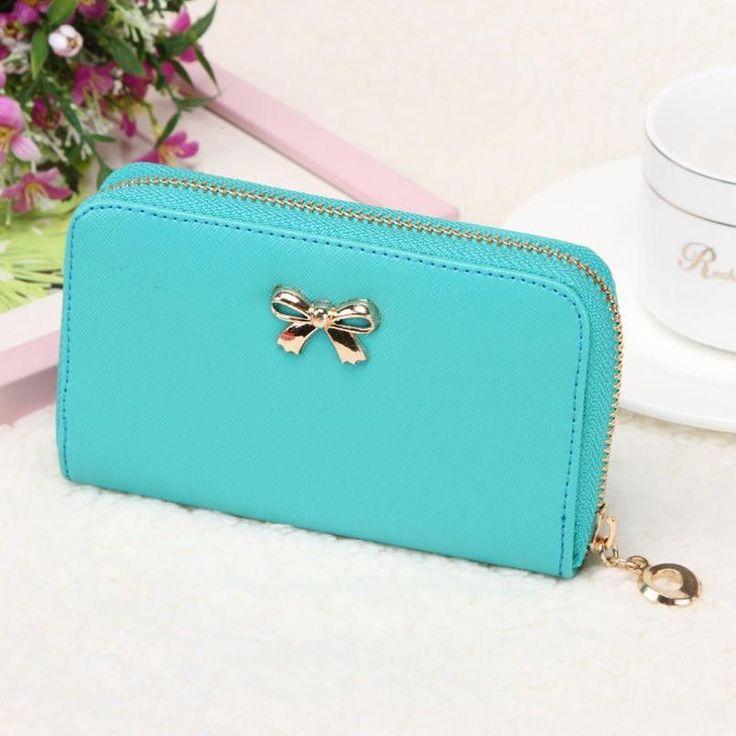 2016 Fashion Female Wallets Zipper Korean Cute Bowknot Purse wallet Women Wallets clutch carteira feminina Wallet carteras mujer
