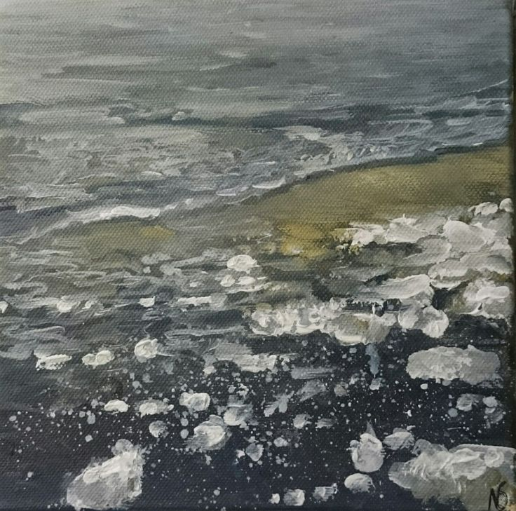 This painting by Nina Shilling  is available to buy at ADO http://artdiscoveredonline.co.uk/art-gallery/shoreline-at-st-margarets-bay/