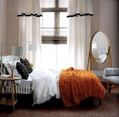Elegant Beautiful Knitted Burnt Orange Throw. Perfect Accent To A Cool Tones  Room.TeamWorks Realtor