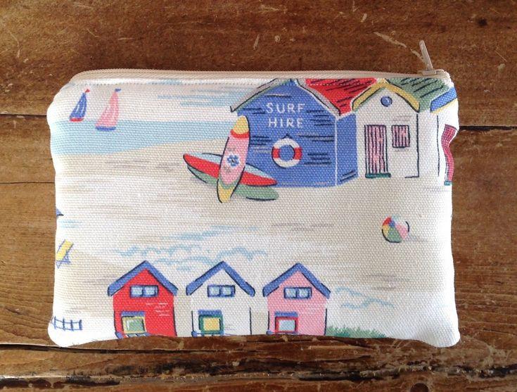 Handmade Makeup Bag Purse Cath Kidston Beach Huts Padded And Lined | eBay