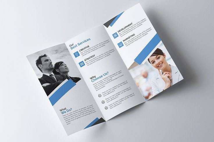 Corporate Tri fold Brochure by Pixelpick on @creativemarket