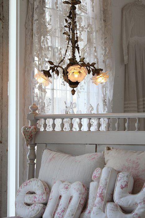 "Ancient and modern-Fuat Coconfouato ""chandelier Ⅲ rose antique chandelier antique France Napoleon""  - barbarasangi"