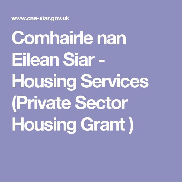 Comhairle nan Eilean Siar - Housing Services (Private Sector Housing Grant )