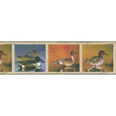 Brewster Hunter Duck Wall Border