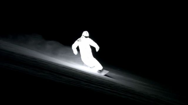 Wow... Night Snowboarding in LED Suit!!