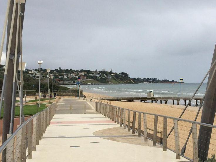 Frankston beach boardwalk