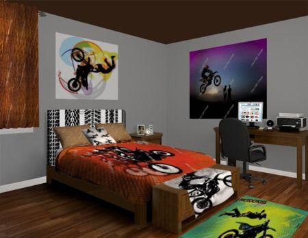 Motocross Bedroom At Http://www.visionbedding.com/Motocross Bonus