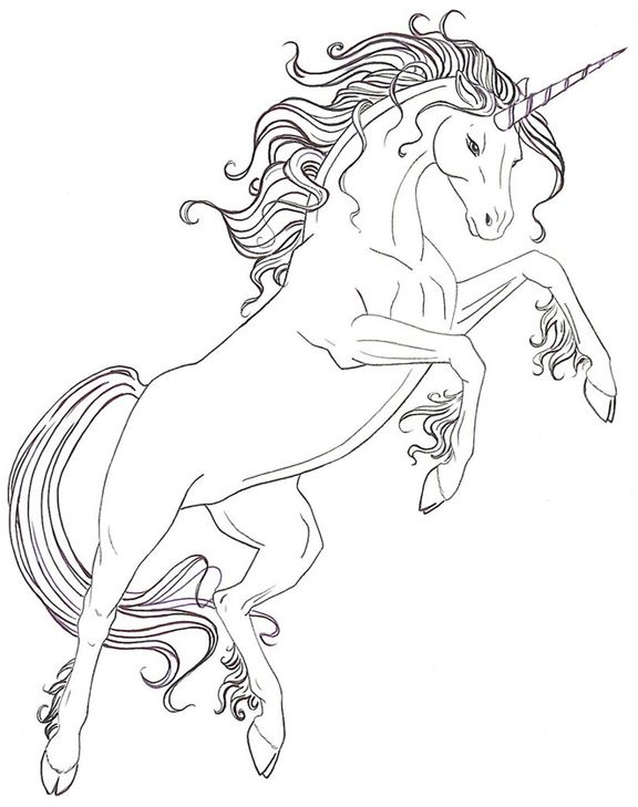 Best 25 Unicorn colouring pages