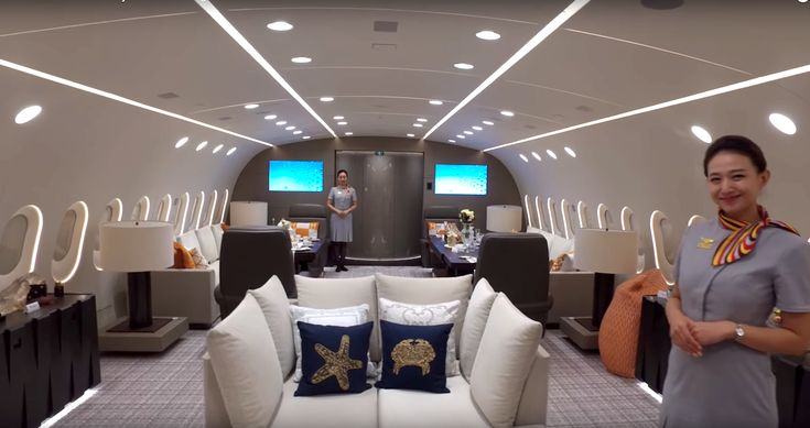 Step inside the world's only private Boeing 787 Dreamliner the insanely luxurious one-of-a-kind plane that cost 230 million to make #luxuryprivatejet