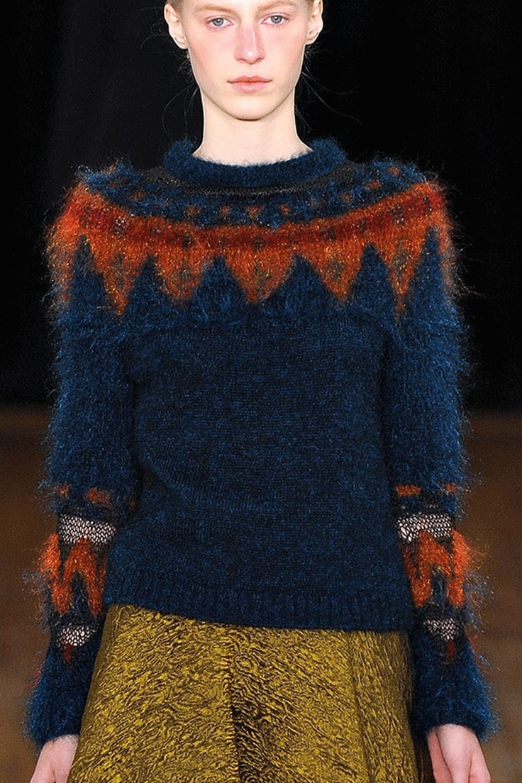 Philosophy F/W '13 | the details on the sleeves and the bit of lurex in the fair isle