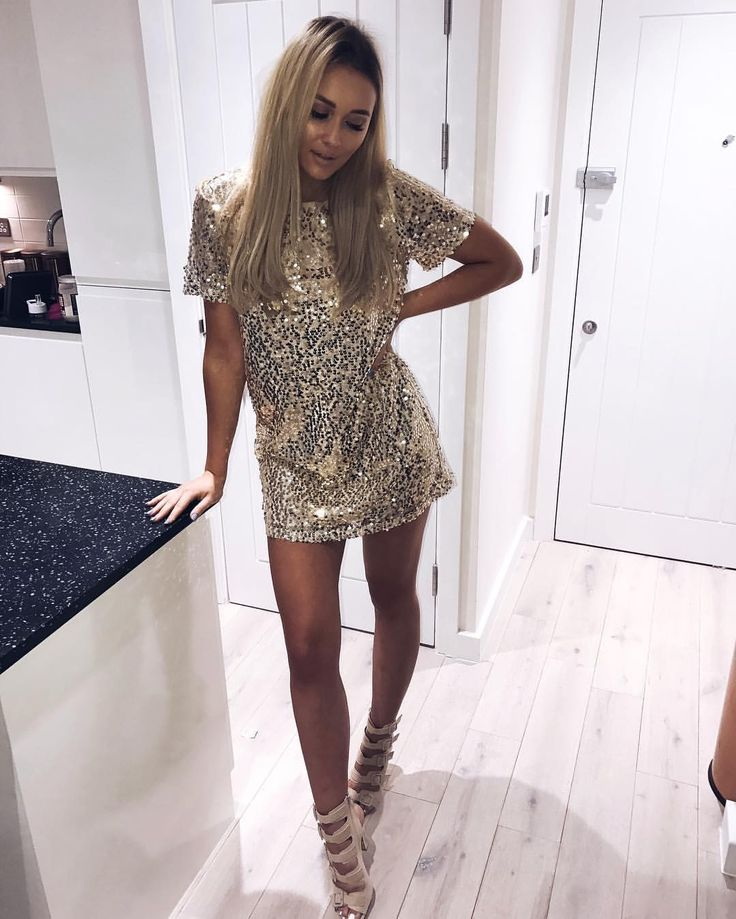 "28.8k Likes, 326 Comments - Sarah Ashcroft (@sarahhashcroft) on Instagram: ""@inthestyleuk sequins this t-shirt dress is a BEAUT! Definitely a NYE contender …"""