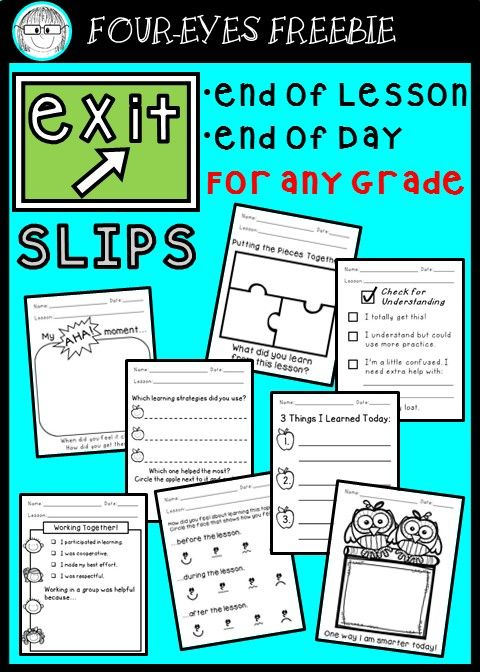 Celebrating 200 followers with 20 free Exit Slips!!! I hope this Four-eyes Freebie will help enable your students to reflect on their learning, as well as help you assess their understanding in order to plan or differentiate future instruction. Thank you to all my followers and future followers!