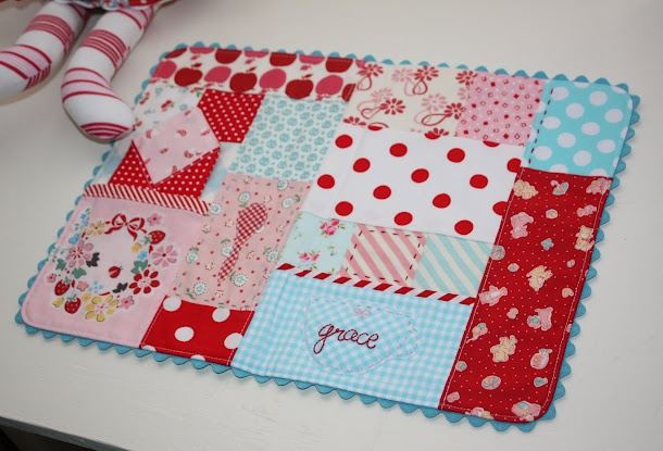 quilted placemat for play