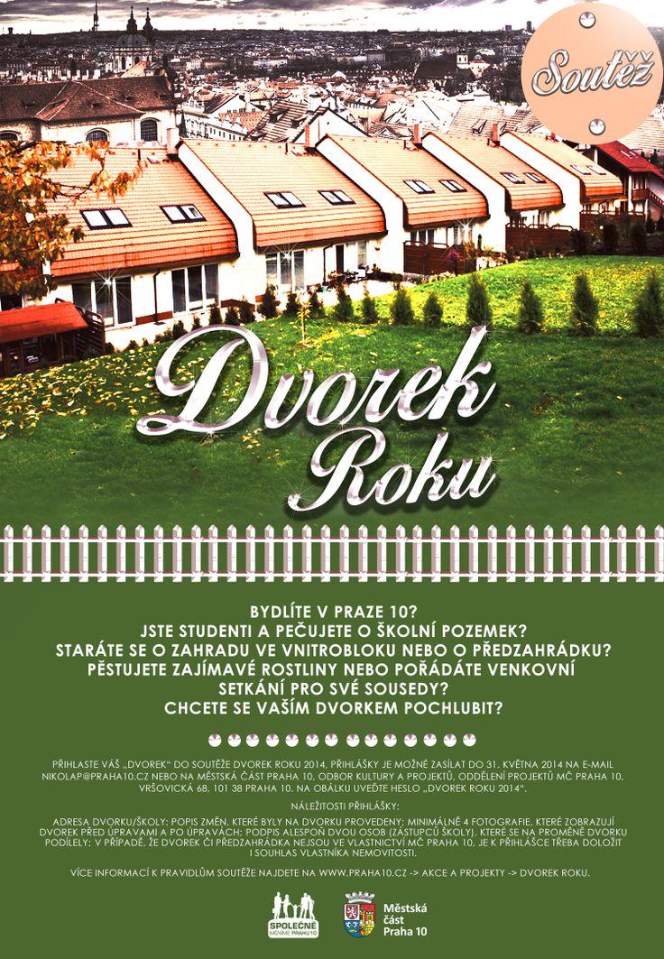 """Vizuál na soutěž """"Dvorek roku"""" Prahy 10"""