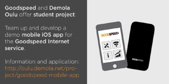 Goodspeed offers a student project in Oulu, Finland!