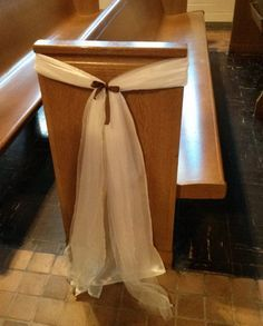 Sashes for wedding pew decoration  36 pcs by Marvensis on Etsy, $180.00