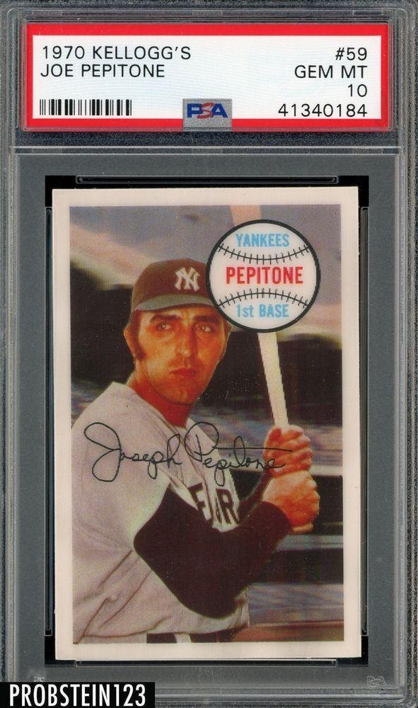 1970 Kelloggs 3 D 59 Joe Pepitone New York Yankees Psa 10 Gem Mint