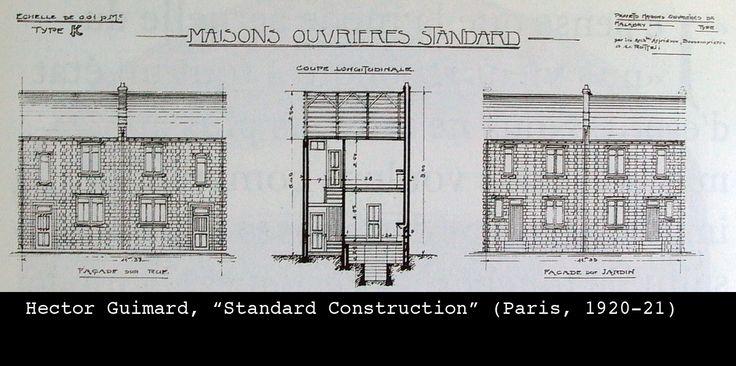 Hector Guimard. Standard Construction - Paris 1920-21