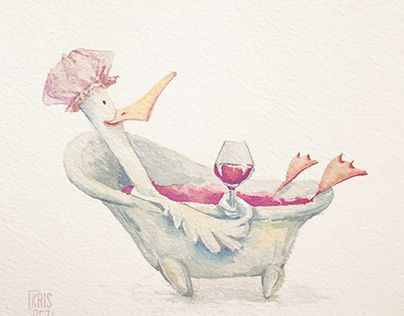 "Check out new work on my @Behance portfolio: ""Wine duck"" http://be.net/gallery/37472899/Wine-duck"
