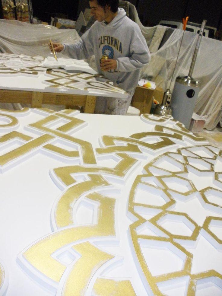 Palacio de Congresos Oran. techo oro, dorado, techos lujo, techos arabes mudejar