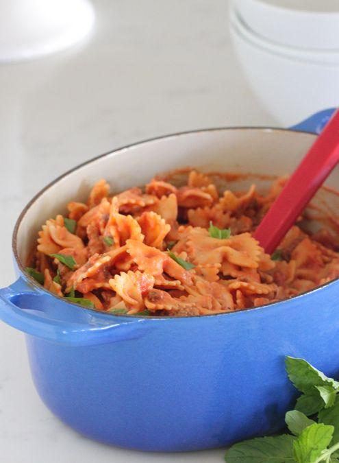 Creamy sausage pasta
