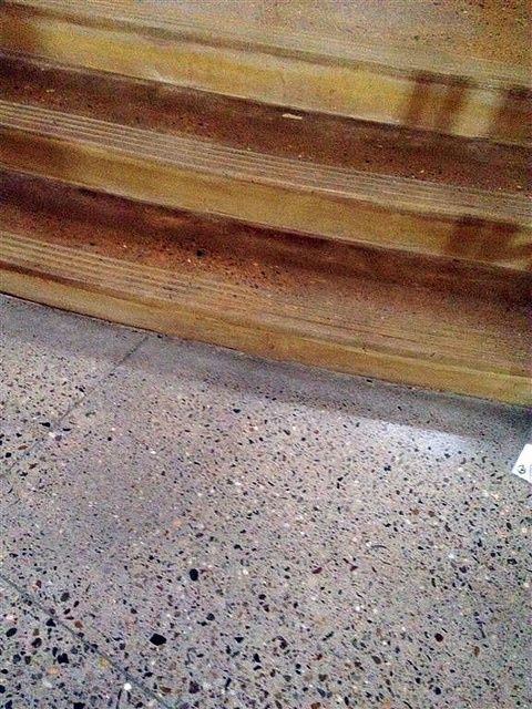exposed aggregate stained concrete - looks like terrazzo