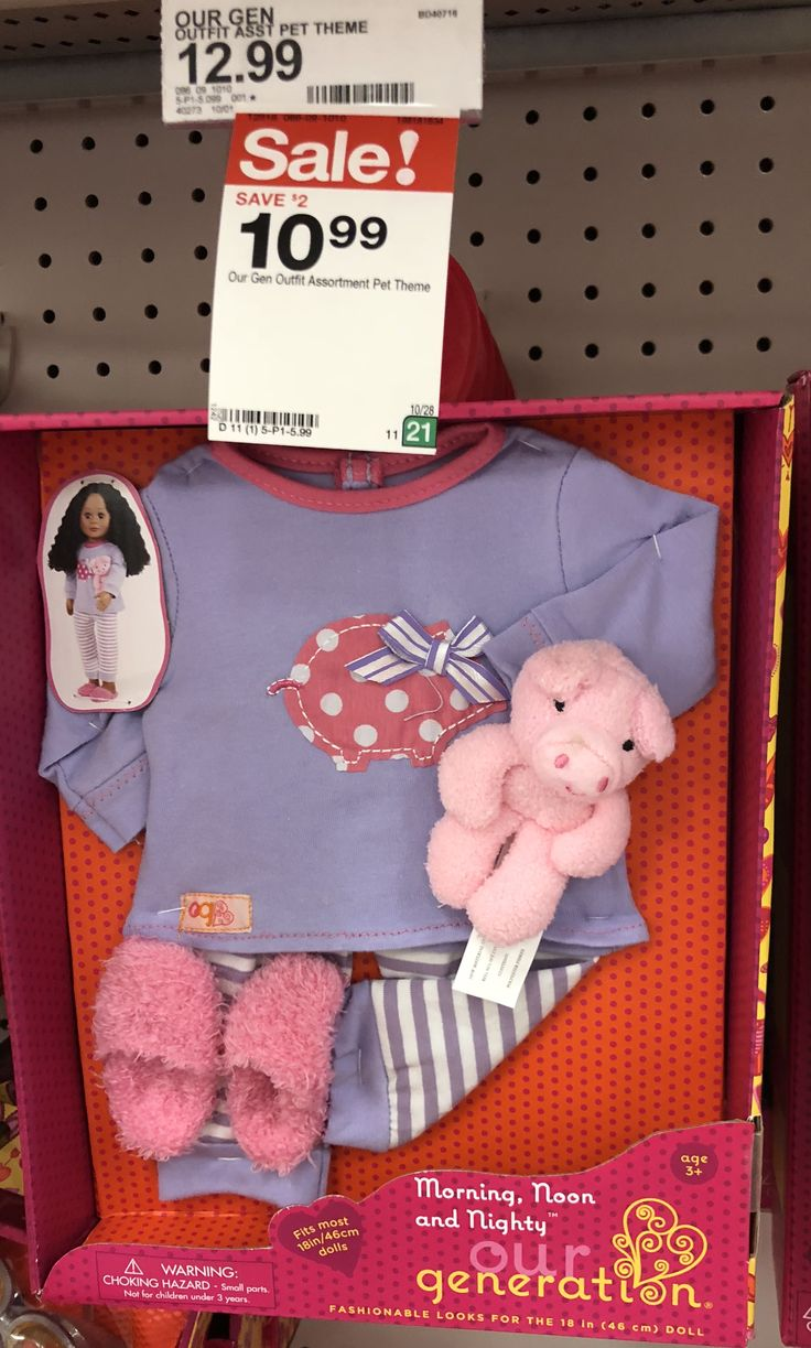 TARGET Our Generation Doll Outfit Morning, Noon and