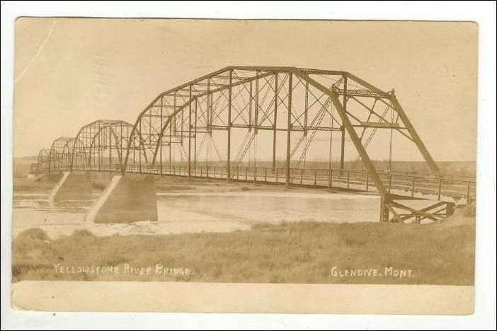 RP,Yellowstone River Bridge,Glendive,Montana,P U-1912