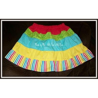 Rainbow skirt size 2 on Handmade Australia