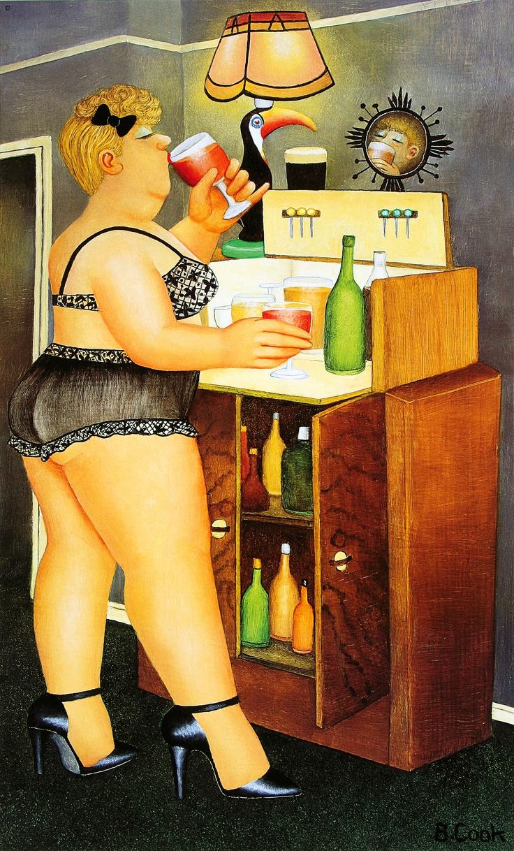 Getting ready by Beryl Cook She was Born: 09/10/1926 - Egham, United Kingdom. Died: 05/28/2008, Plymouth, UK.