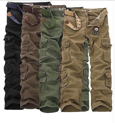 Military Pants Men Loose Baggy Tactical Trousers Oustdoor Casual Cotton Pants
