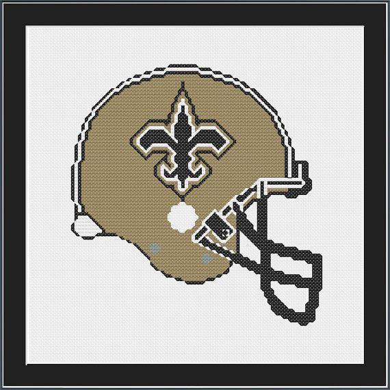 New Orleans Saints Football Helmet  Instant by AwesomeStitch