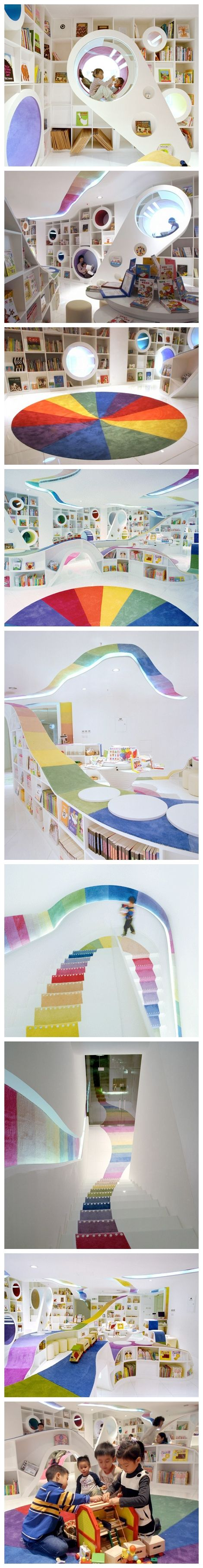 【儿童书店,北京,designed by SAKO ,Bookstore for children in Beijing,China I want to go here when I learn enough Chinese