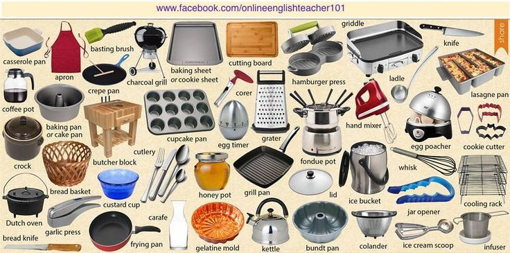 Kitchen Appliances Kitchen Vocabulary Pinterest