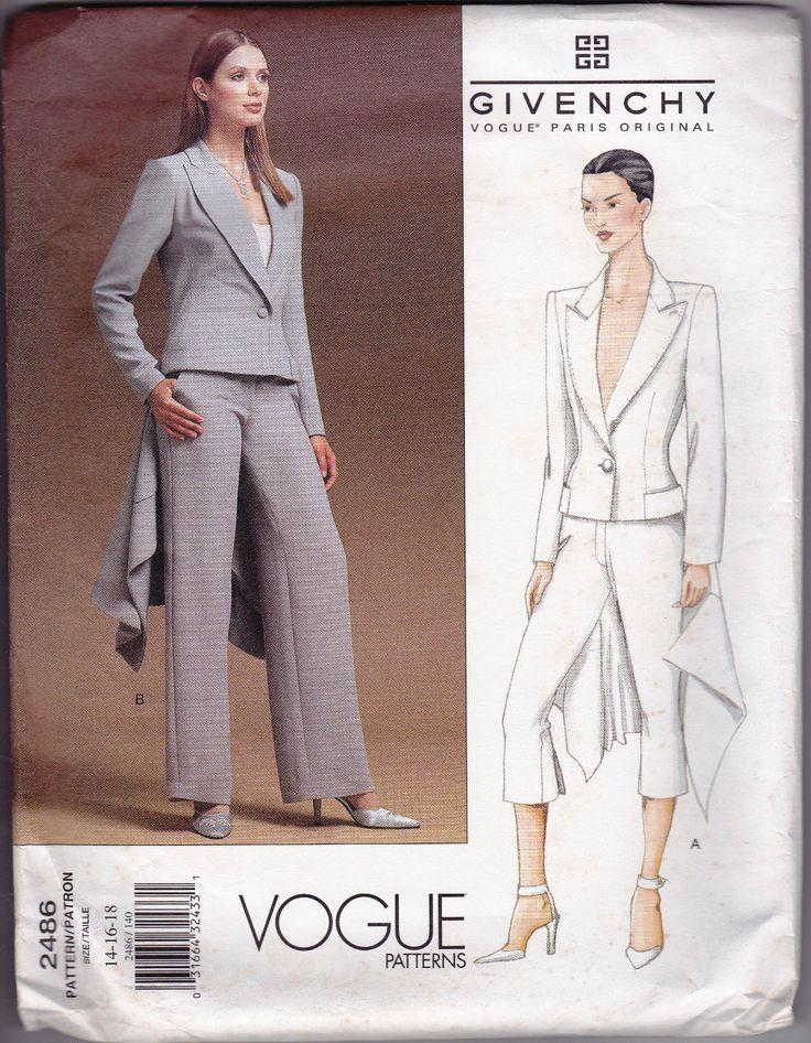 Vogue Sew Pattern Alexander McQueen Givenchy Coattail ...
