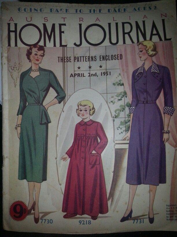 Australian home journal April 1951 cover
