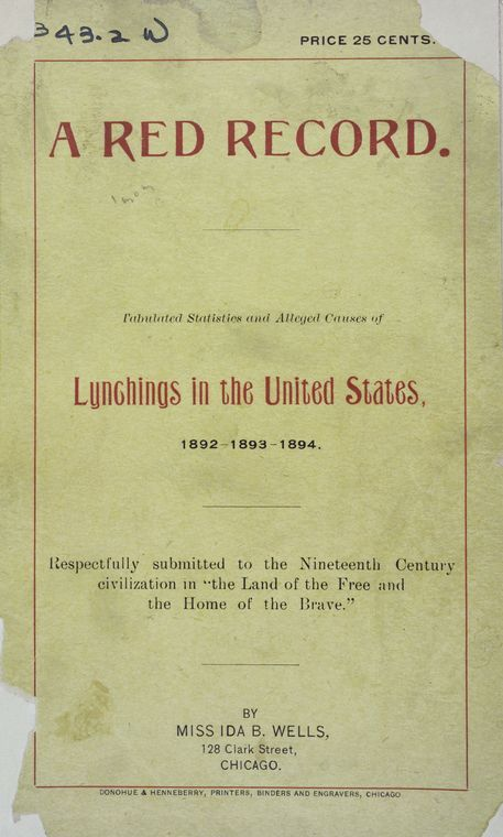 an introduction to the history of the anti lynching of ida b wells The anti-lynching pamphlets of ida b wells,  in a diary of the neglect of my anti-lynching contribution in early black history textbooks penned by the.