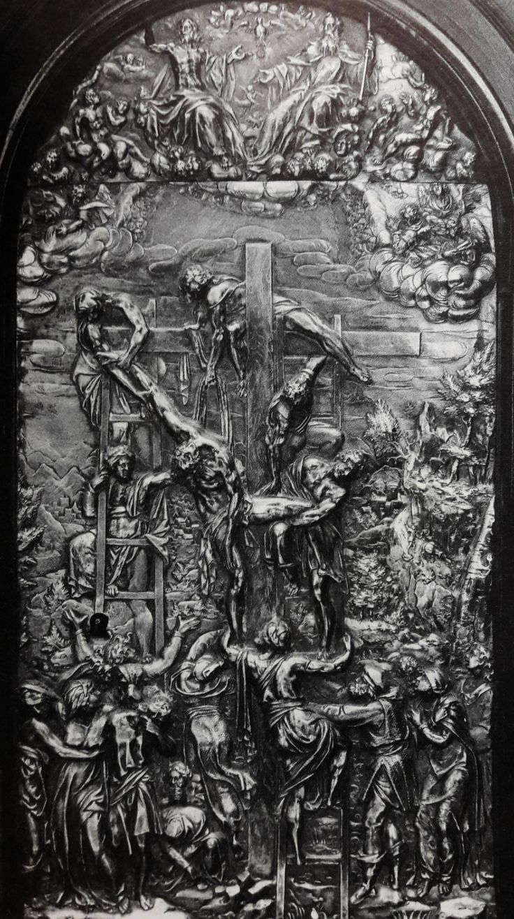 Silver plaque with Descent from the Cross by Hermann Potthoff, 1610s, Klasztor Sióstr Wizytek; from the ebony altar of Marie Louise Gonzaga, commissioned by Sigismund III Vasa