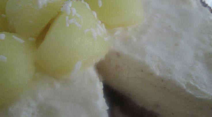 Дынный торт-мороженое