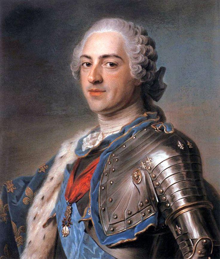 """Maurice Quentin de La Tour, """"Ritratto di Luigi XV"""", 1748, pastello su tela. Parigi, Museo del Louvre"""