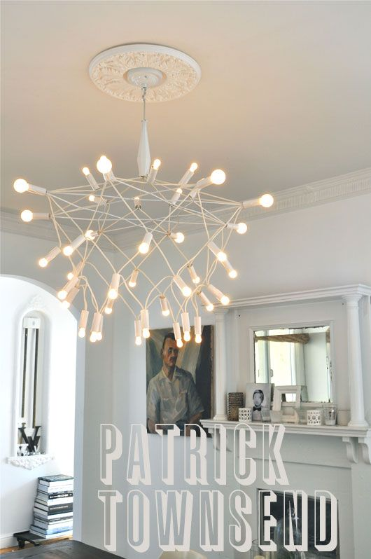 patrick townsend white orbit chandelier. i've only had this collecting dust in