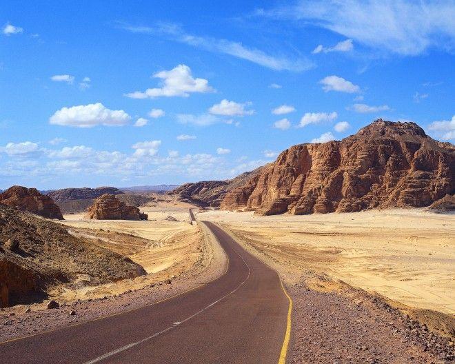 Desert Road in Egypt's Sinai Peninsula
