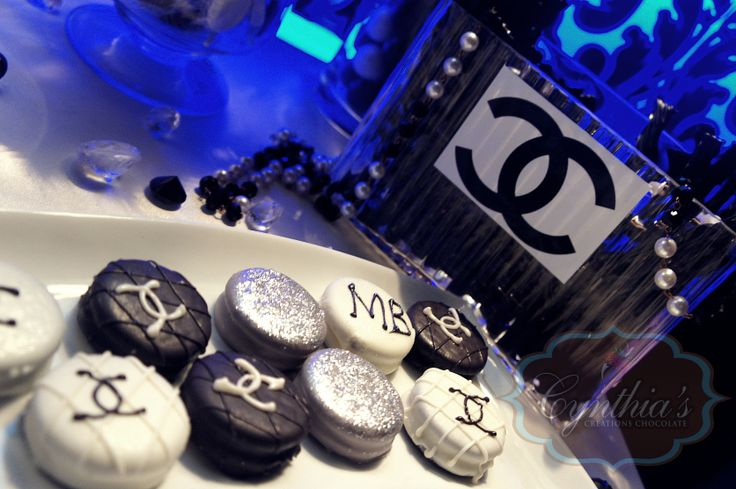 CHANEL CANDY BUFFET/ DESSERT TABLE oreos