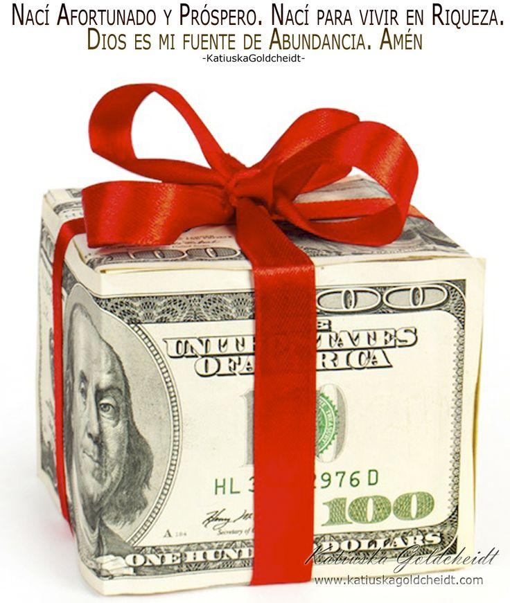 Afirma; Tengo capacidad de Crear mi Mundo Abundante y Próspero... sigue leyendo en http://katiuskagoldcheidt.com/he-nacido-para-tener-dinero/