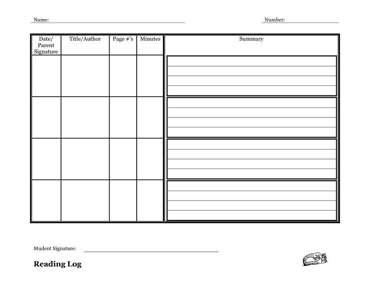 4th grade reading log template - reading log template with summary google search common